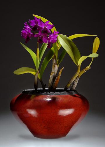 Raku Ceramic Pottery Cachepots