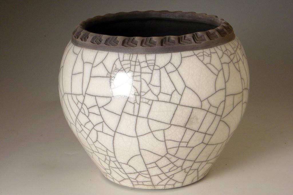 Cache Pot 6 Inch Tall Dodero Studio Ceramics Raku