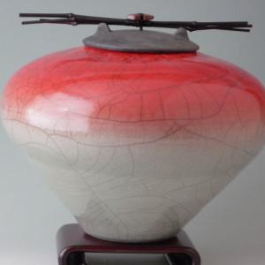 large raku ash urn