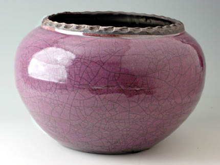 Cache Pot 7 inch-O - Dodero Studio Ceramics: Raku Pottery Urns for Ashes
